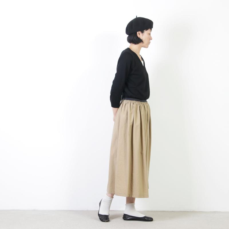 mao made(マオメイド) UV加工陽真コットンVネックプルオーバー