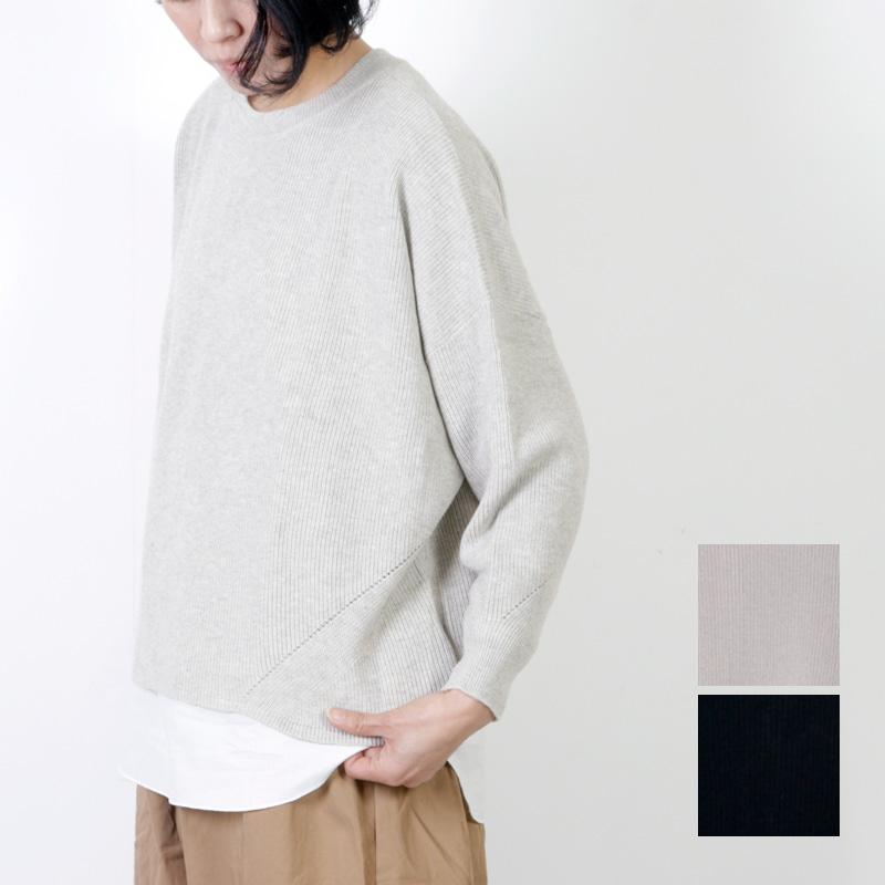 mao made (マオメイド) ソフトコットンレイヤードプルオーバー
