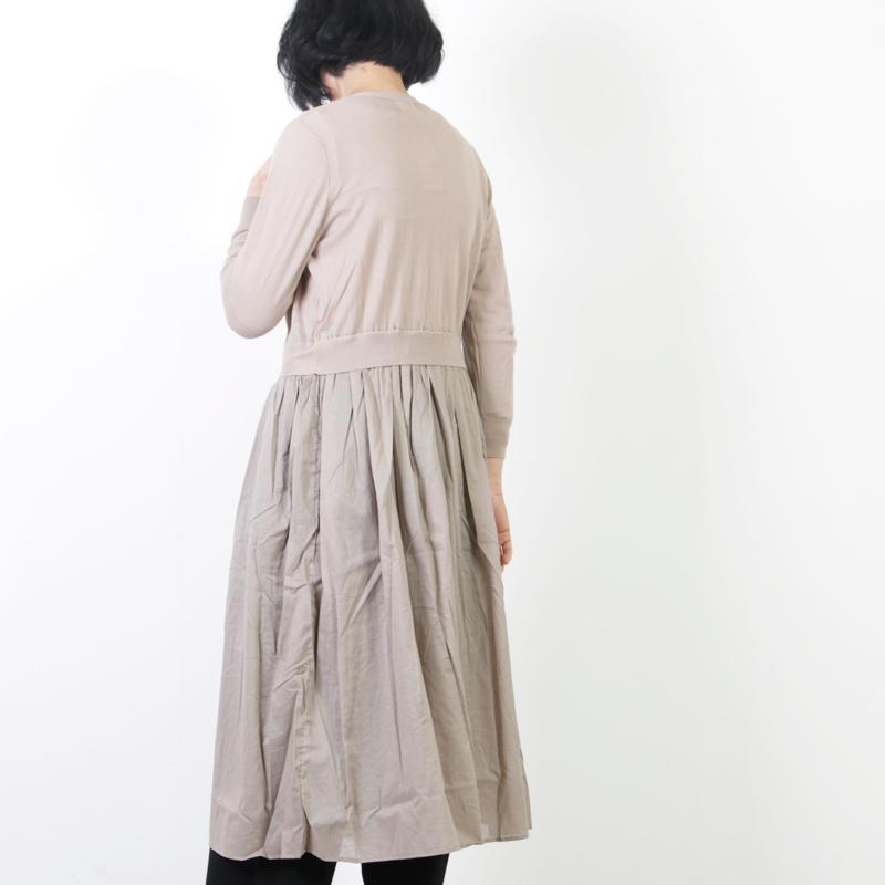 mao made(マオメイド) ハイツイストコットン切替ワンピース