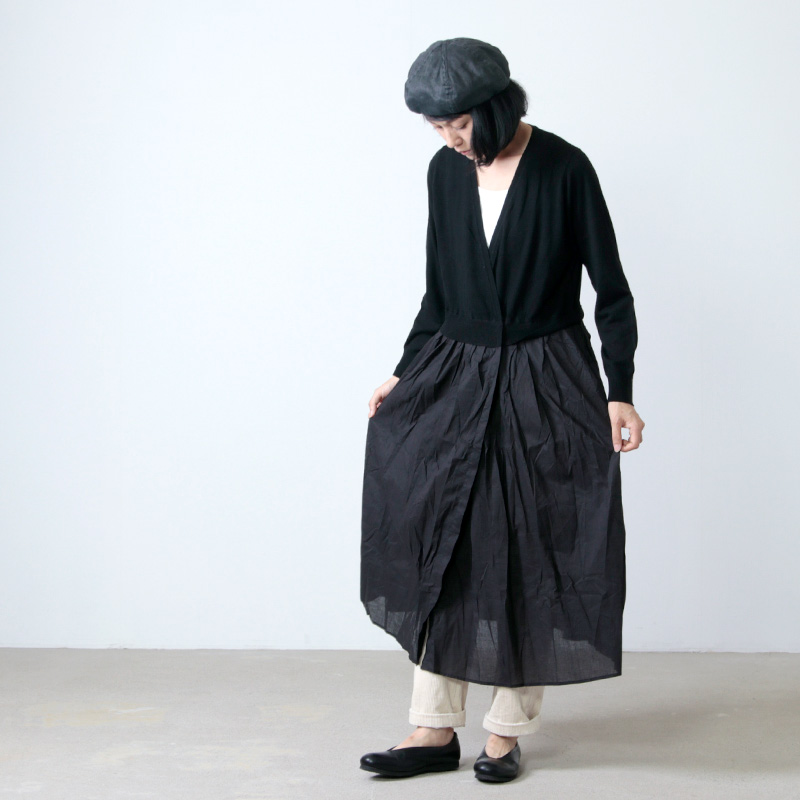 mao made(マオメイド) メリノウール切り替えワンピース