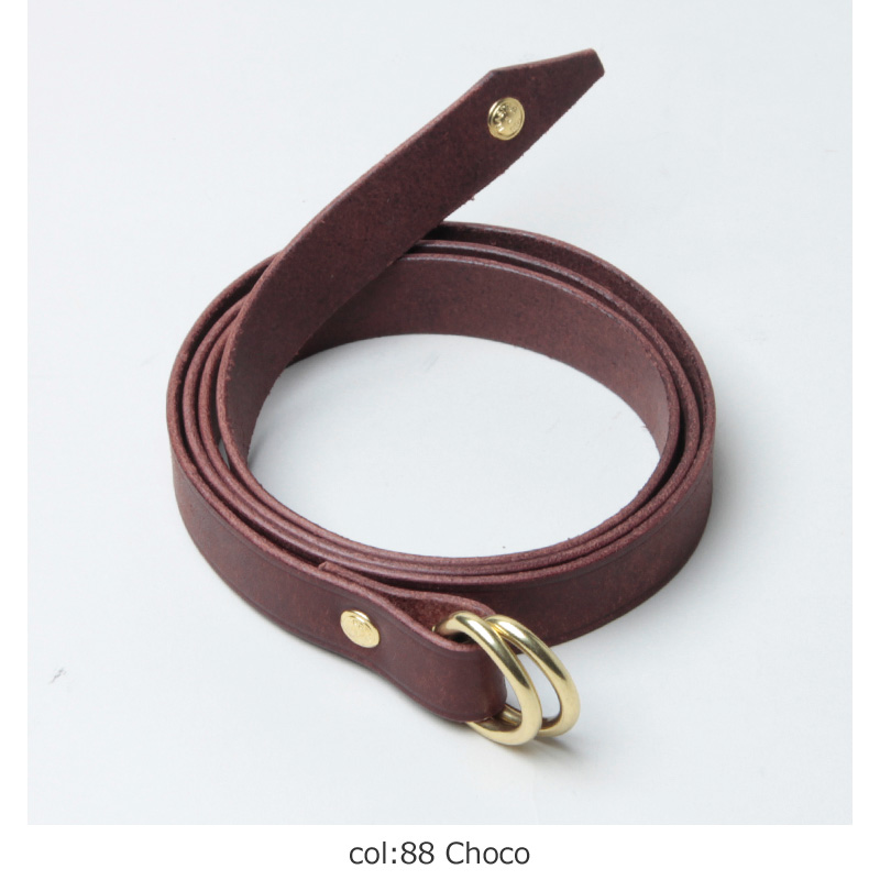 MASTER & Co.(マスターアンドコー) PUEBLO LEATHER 15mm W RING BELT