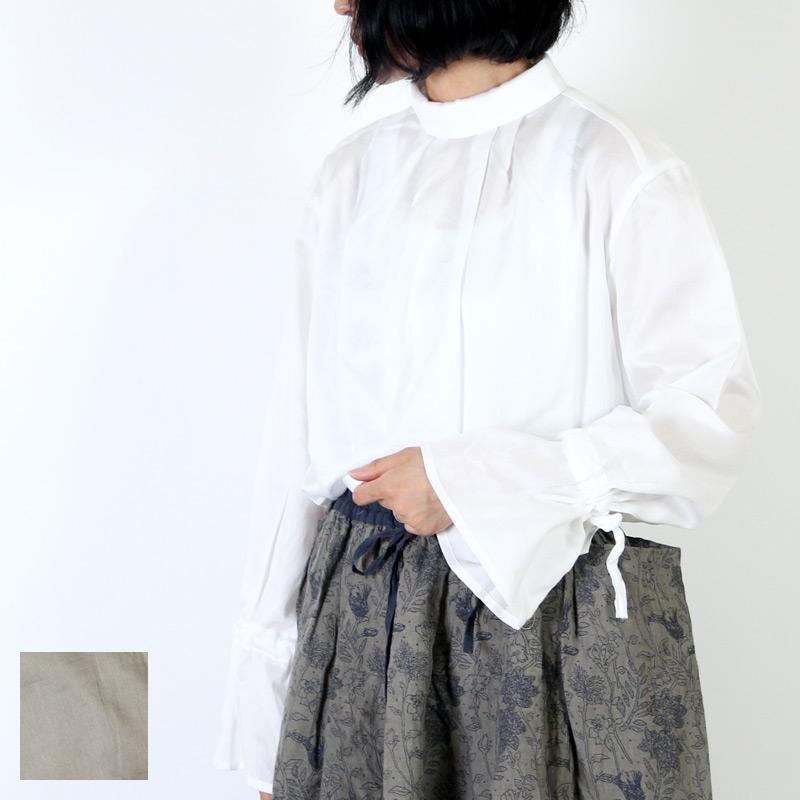 MidiUmi(ミディウミ) ハイネック トランペットスリーブプルオーバー
