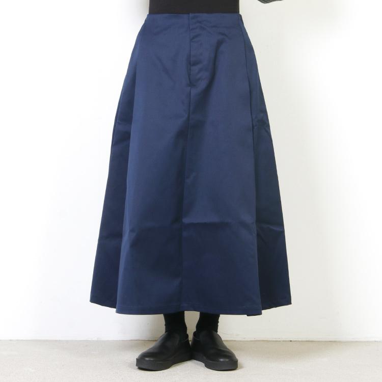 MidiUmi(ミディウミ) タックイージーロングスカート