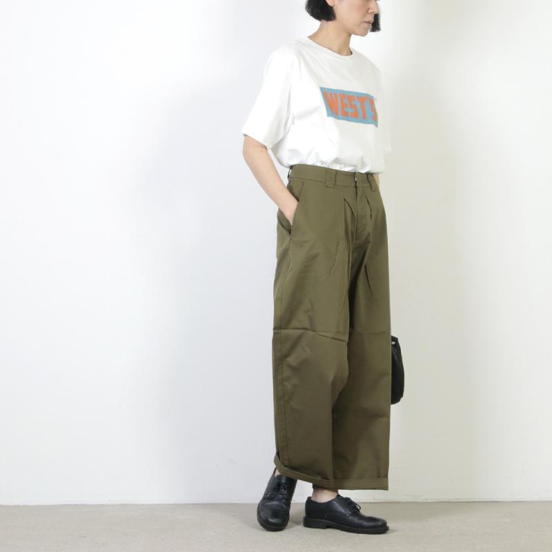 MidiUmi(ミディウミ) タックワイドチノパンツ