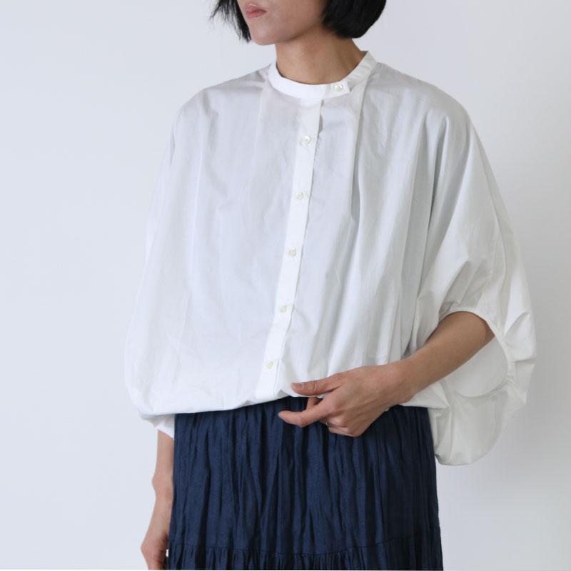 mizuiro ind(ミズイロインド) マオカラータックスリーブシャツ