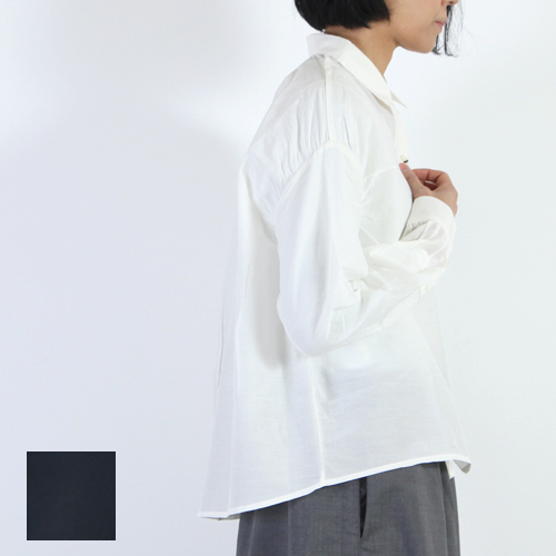 mizuiro ind (ミズイロインド) コットンシルクシャツ