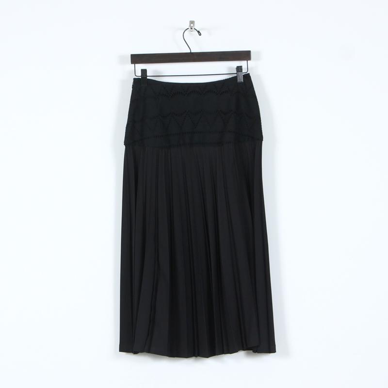 mizuiro ind(ミズイロインド) レースコンビプリーツスカート
