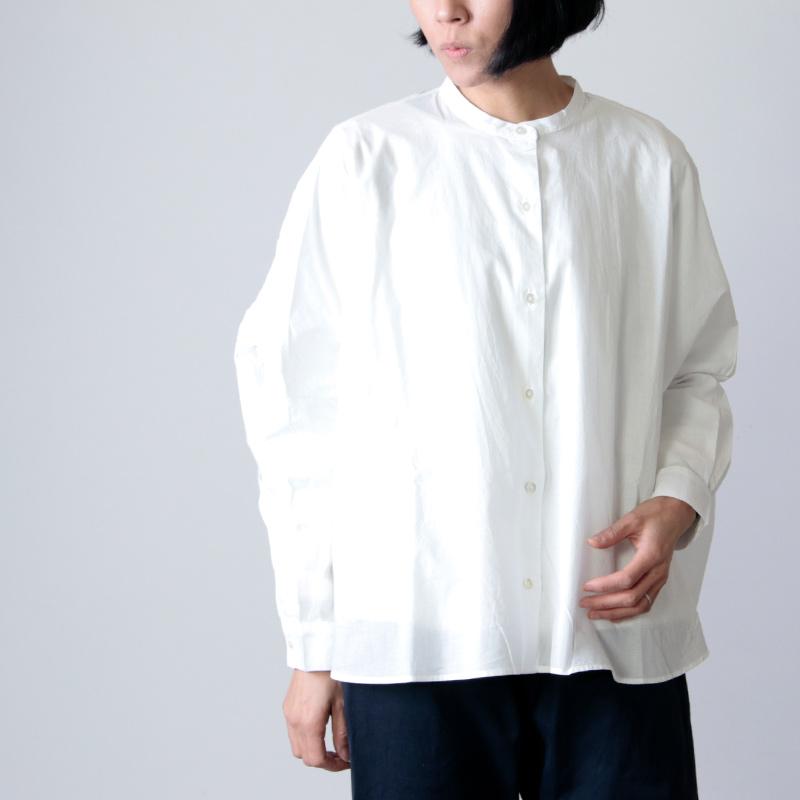 mizuiro ind (ミズイロインド) バックギャザーワイドシャツ