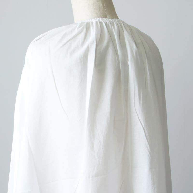 mizuiro ind(ミズイロインド) ネックギャザーフレアシャツ
