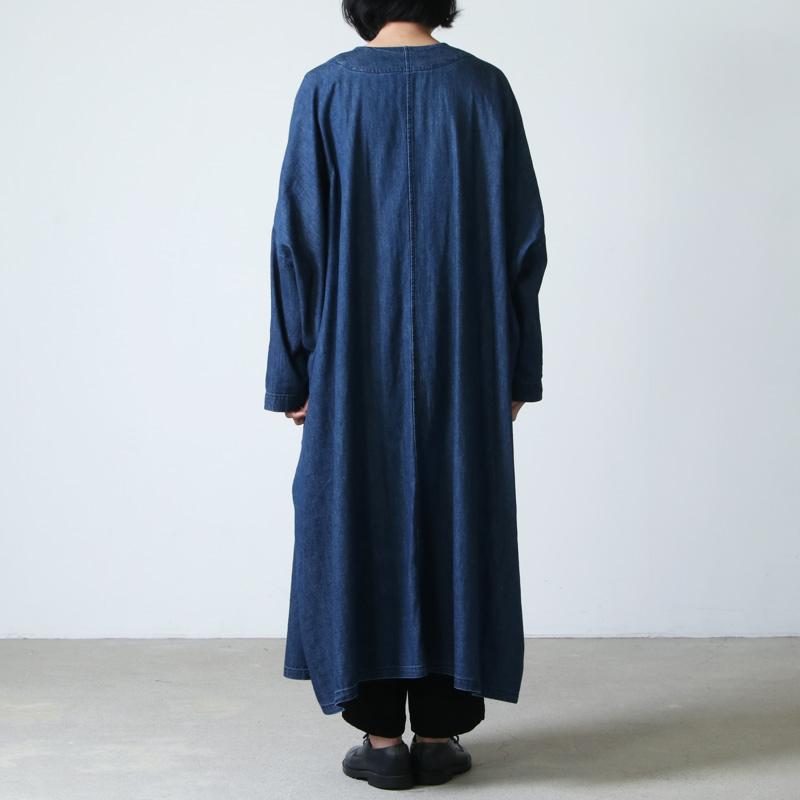 mizuiro ind(ミズイロインド) デニムワイドコート