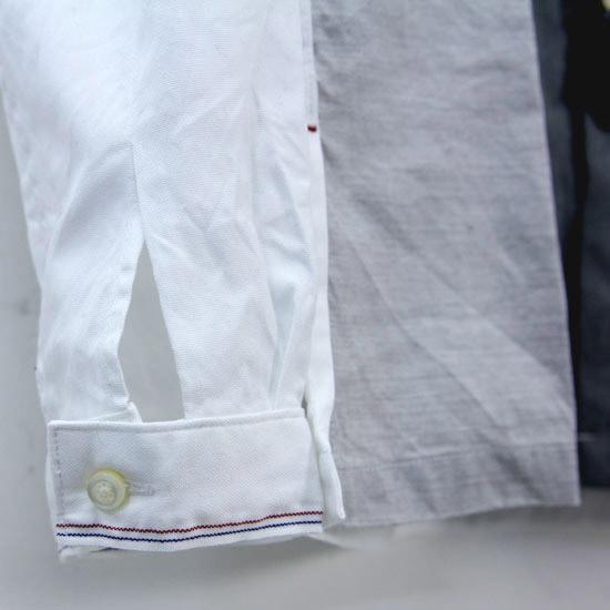 NATIC(ナティック) オックス×サマーウールパッチワークシャツ
