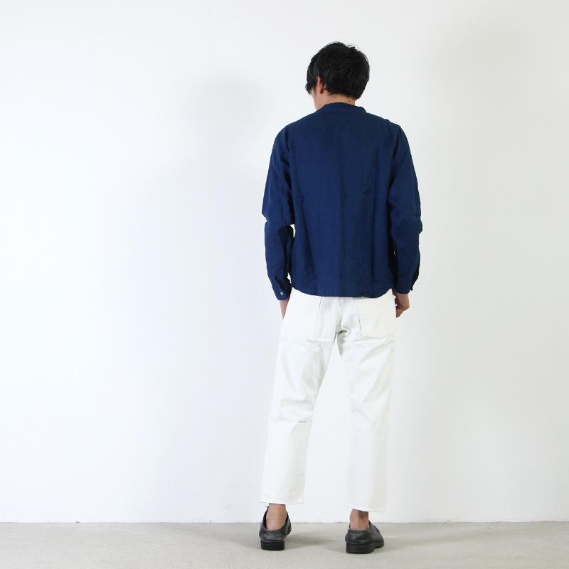 nisica(ニシカ) リネンガンジーシャツ