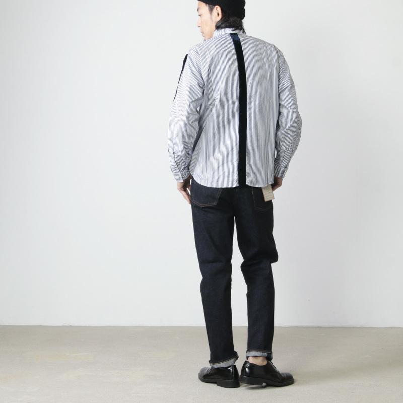 nisica(ニシカ) ストライプシャツ