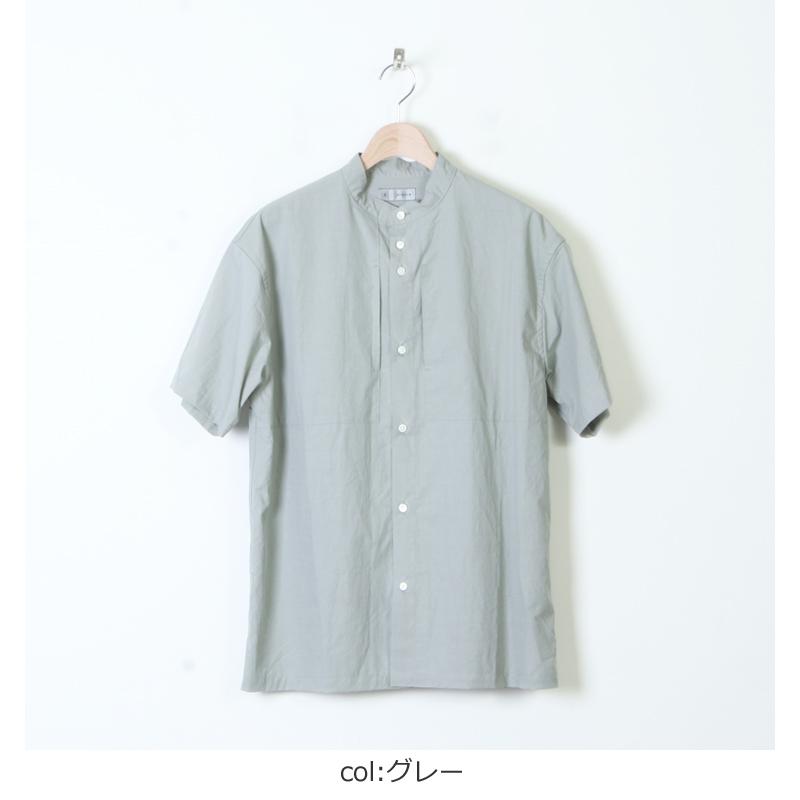 nisica(ニシカ) 半袖バンドカラーシャツ