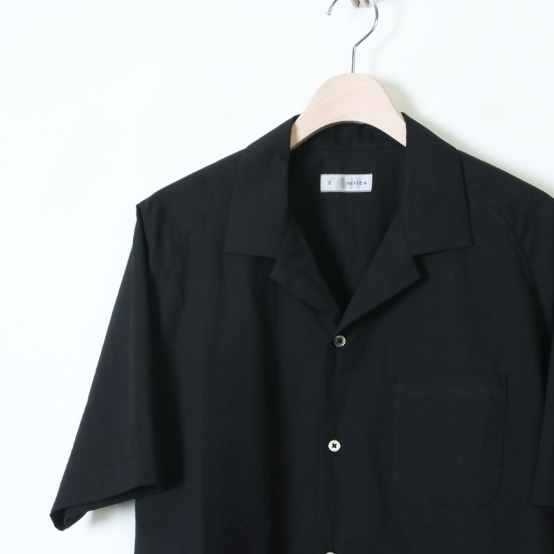 nisica(ニシカ) 半袖オープンカラーシャツ