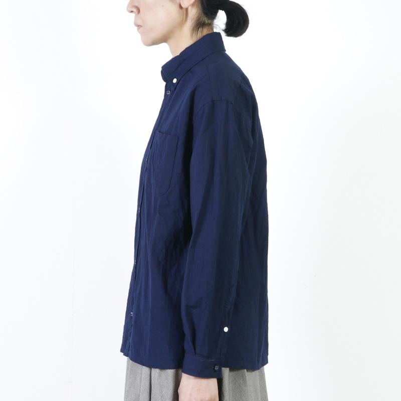 nisica(ニシカ) インディゴルーズフィットボタンダウンシャツ