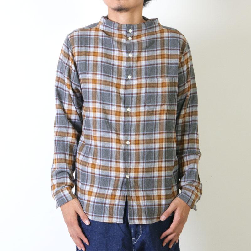 nisica(ニシカ) ネルチェックガンジーシャツ