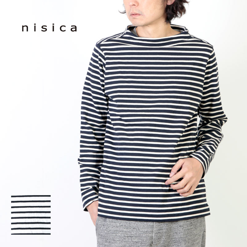 nisica (ニシカ) ボーダーガンジーカットソー