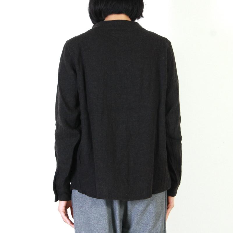 nisica(ニシカ) 別注ウールリネンガンジーシャツ