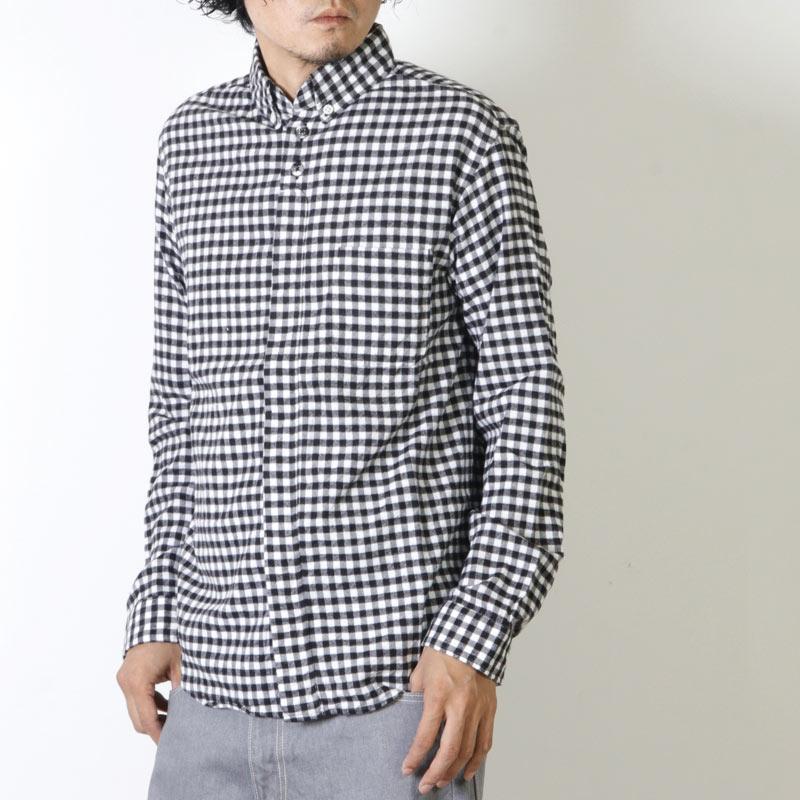 nisica (ニシカ) 別注ギンガムチェックネルボタンダウンシャツ