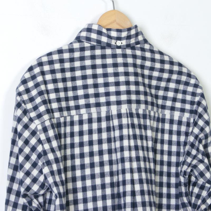nisica(ニシカ) 別注ギンガムチェックネルボタンダウンシャツ
