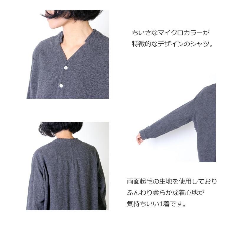 NO CONTROL AIR(ノーコントロールエアー) コットン 両面起毛 3/3ツイル マイクロカラーシャツ
