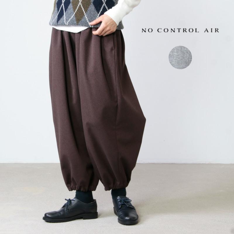 NO CONTROL AIR (ノーコントロールエアー) ソロテックスポリエステルストレッチサージギャザーパンツ