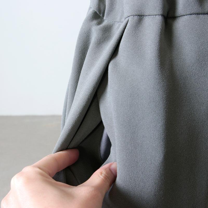 NO CONTROL AIR(ノーコントロールエアー) アセテートポリエステル ライトクレープダブルクロスプリーツスカート