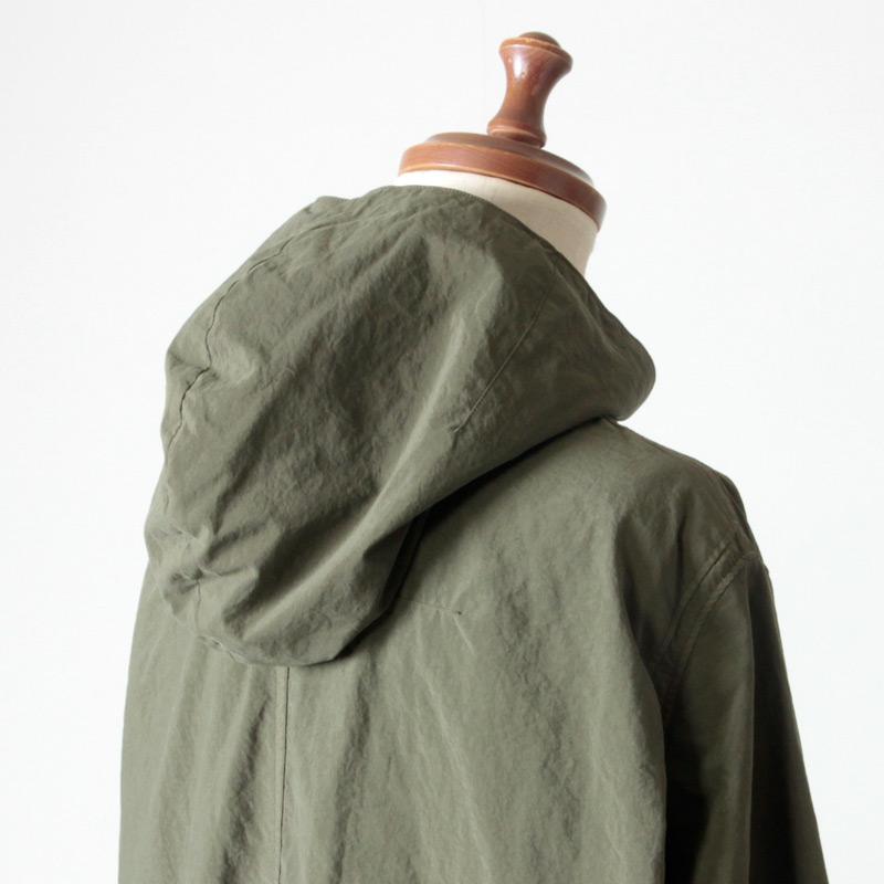 NO CONTROL AIR(ノーコントロールエアー) ナイロンタッサー ガーメントダイ フードシャツ