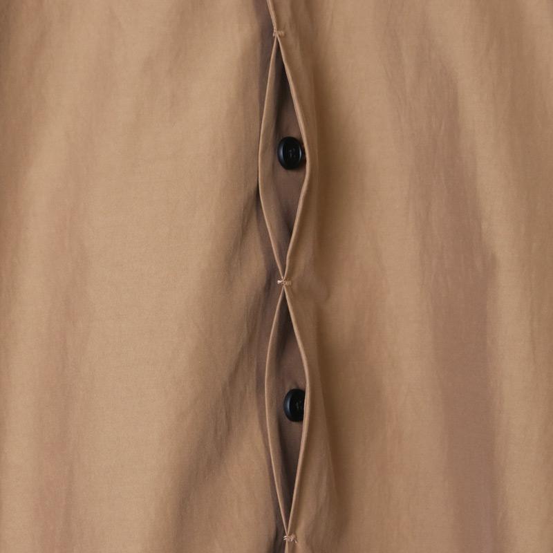 NO CONTROL AIR(ノーコントロールエアー) コットン フルダルポリエステル交織タイプライターステンカラー比翼シャツ