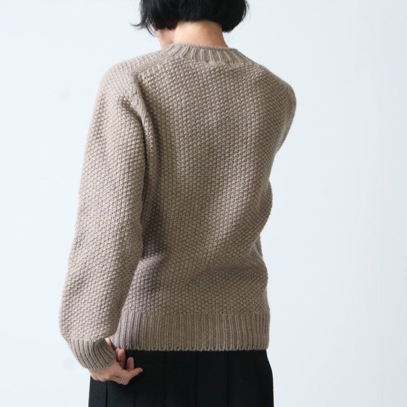 NOR'EASTERLY(ノア イースターリー) NOR'EASTERLY HARLEY 6ply seed stitch crew