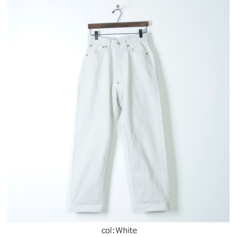 Ordinary Fits(オーディナリーフィッツ) NEW FARMERS 5POCKET DENIM white one wash