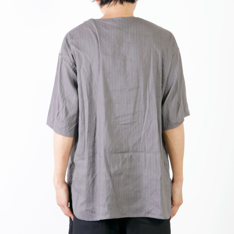 RICEMAN(ライスマン) Shoulder Zip Half Sleeve Shirt