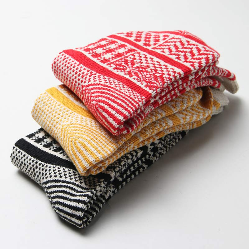 RoToTo(ロトト) MULTI JACQUARD CREW SOCKS