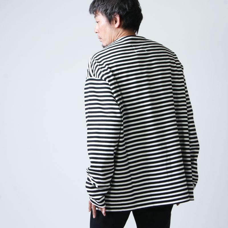 TAKAHIROMIYASHITATheSoloist.(タカヒロミヤシタザソロイスト) shoulder buttoned boat neck shirt border