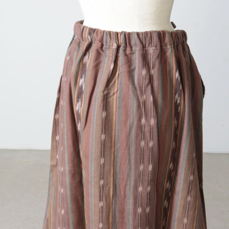 South2 West8(サウスツーウエストエイト) String Skirt - Cotton Cloth / Ikat Pattern