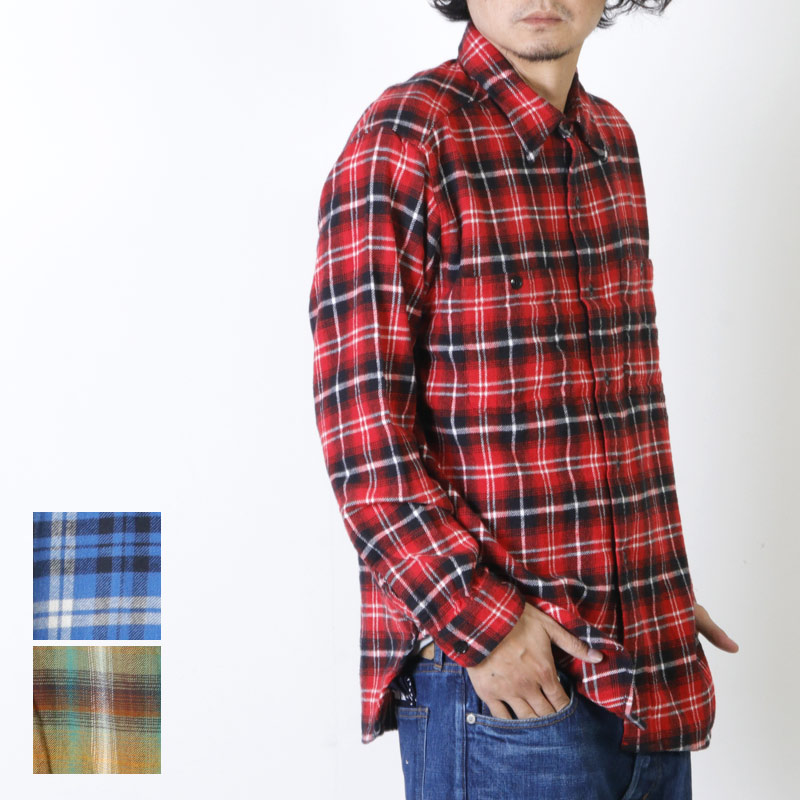 South2 West8 (サウスツーウエストエイト) Work Shirt - Cotton Twill / Plaid / ワークシャツ