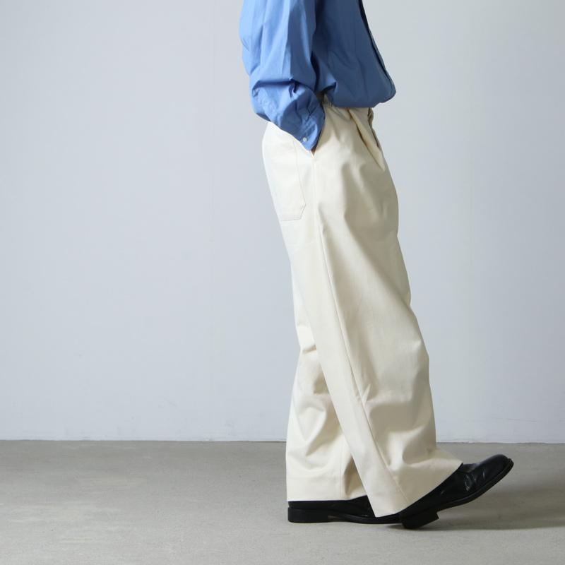 STUDIO NICHOLSON(スタジオニコルソン) PEACHED COTTON TWILL VOLUME PLEAT PANTS SORTE