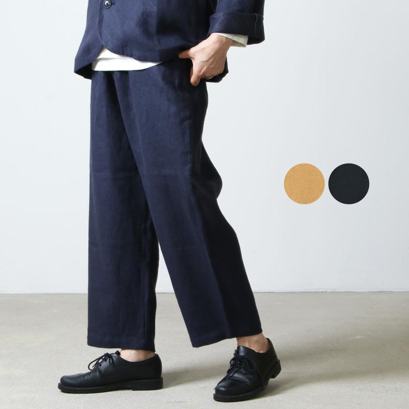 style + confort (スティールエコンフォール) リネン起毛 ワイドパンツ