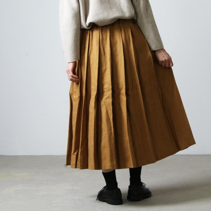 style + confort(スティールエコンフォール) リネン起毛 タックスカート