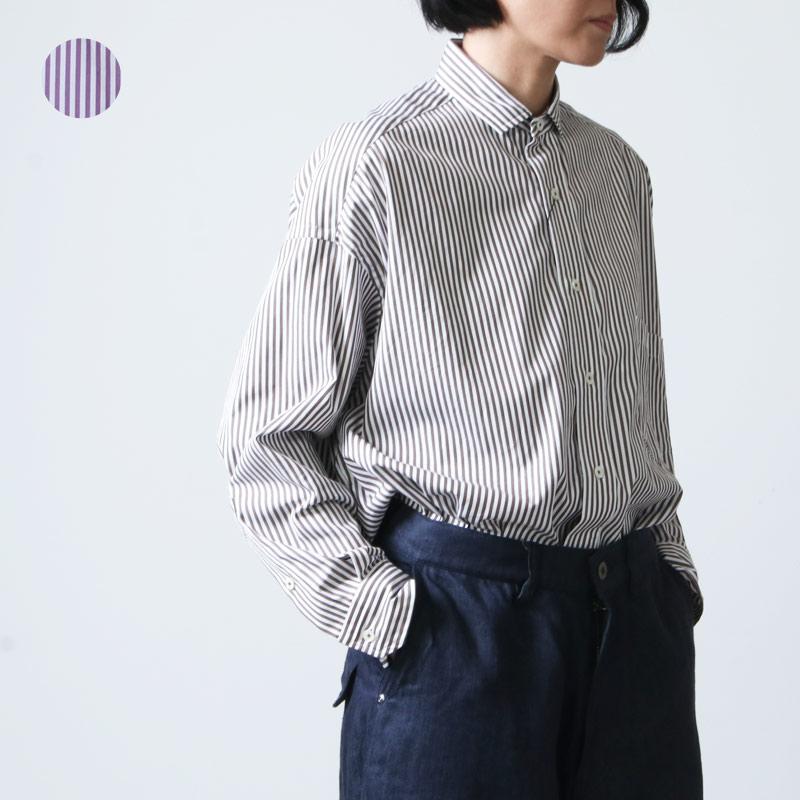TICCA (ティッカ) スクエアビッグシャツ stripe