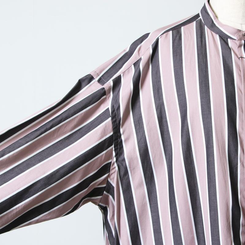 TICCA(ティッカ) ノーカラースクエアビッグロングシャツ