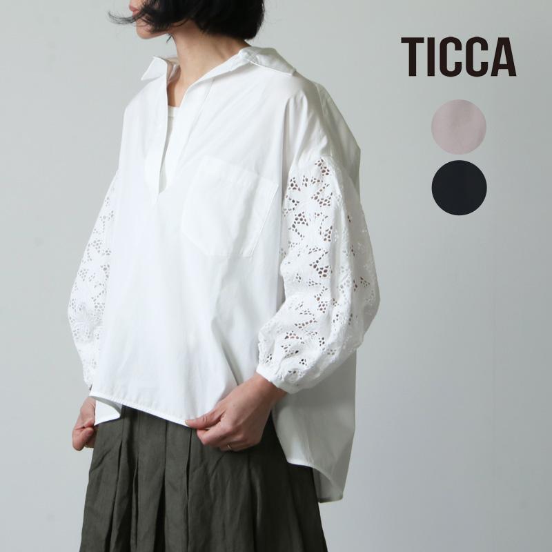 TICCA (ティッカ) レースパフスリーブブラウス