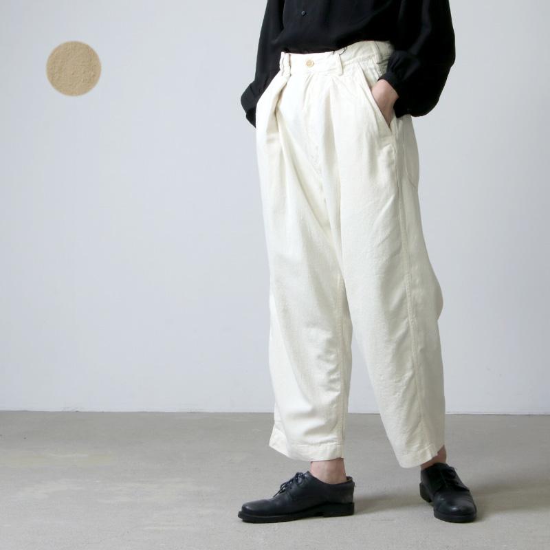 unfil (アンフィル) raw silk denim cropped pants / ローシルクデニムクロップドパンツ