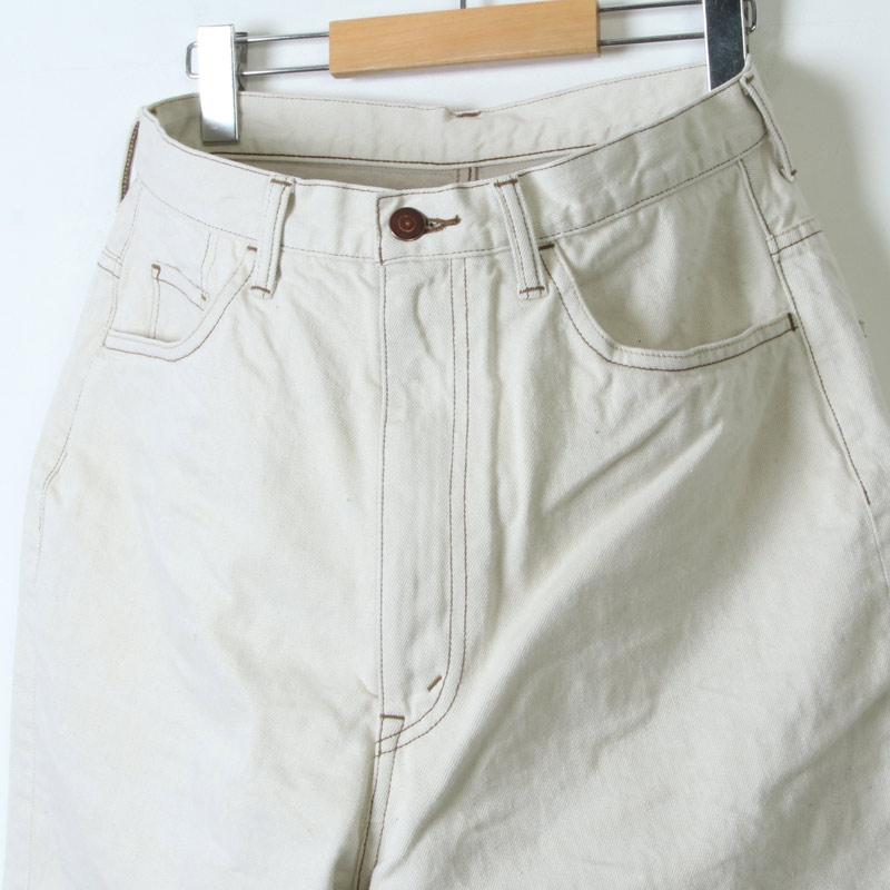 unfil(アンフィル) 12oz cotton denim 5pocket wide tapered pants
