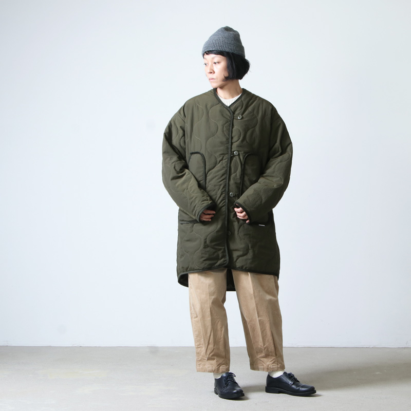 WILD THINGS(ワイルドシングス) QUILTED NO COLLAR COAT