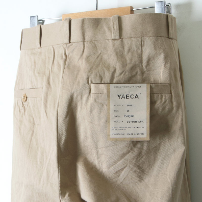 YAECA(ヤエカ) CHINO CLOTH PANTS TACK TAPERED
