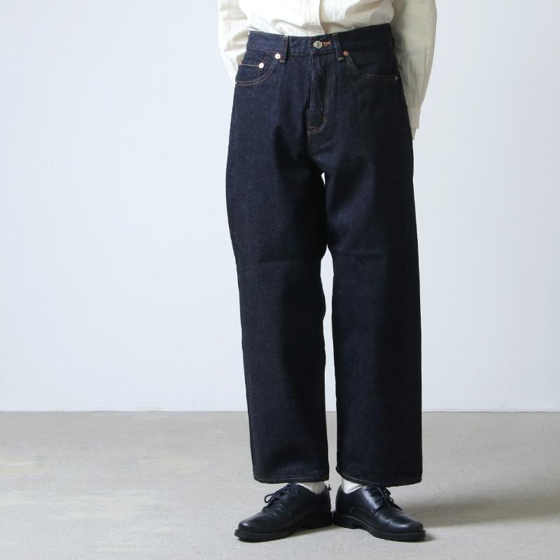 YAECA (ヤエカ) 11-13W DENIM PANTS WIDE STRAIGHT / デニムパンツワイドストレート