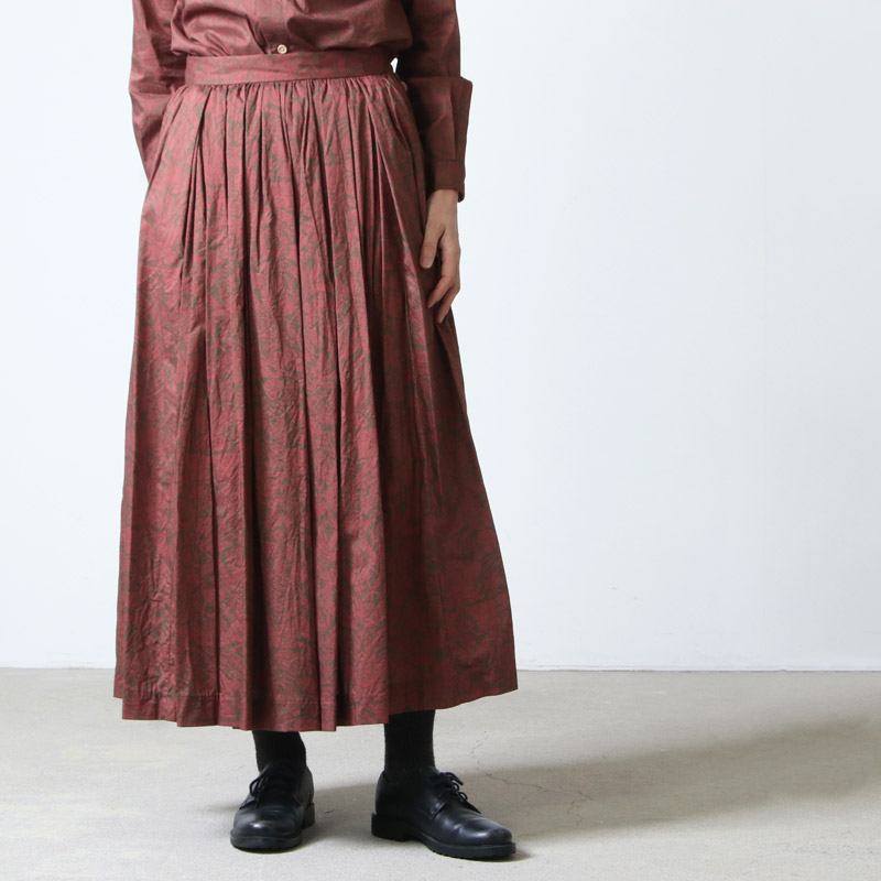 YAECA(ヤエカ) WRITE TUCK SKIRT LIBERTY