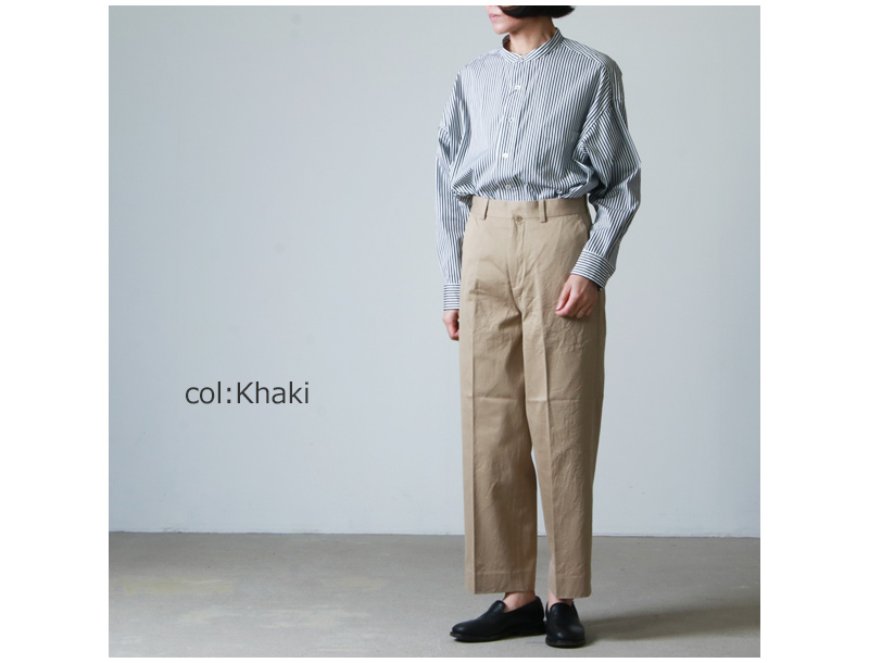 YAECA(ヤエカ) CHINO CLOTH PANTS CREASED